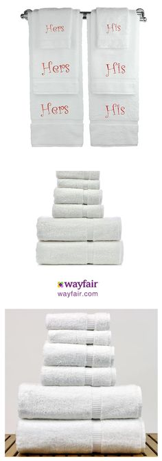 This ultimate, luxurious Finkelstein 6 Piece Wedding Engagement Anniversary Gift Towel Set, each of these ridiculously soft washcloths is personalised with embroidered names or initials.   coffee table room home decor ideas kitchen bathroom bedroom furnishings furniture rug flooring garden pictures plants bath bed dining light lighting rugs shopstyle #commissionlink