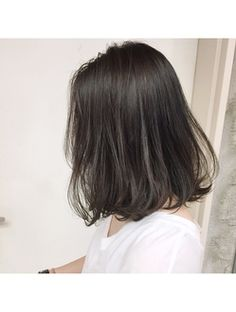 46 Trendy Ideas For Hair Color Balayage Short Mid Length Waves Medium Short Hair, Medium Hair Styles, Long Hair Styles, Korean Short Hair, Langer Bob, Shot Hair Styles, Corte Y Color, Mid Length Hair, Haircuts For Long Hair