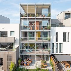 Three-Generation House by BETA, Netherlands. School Architecture, Architecture Plan, Amazing Architecture, Florence Hotels, Co Housing, Sweden House, Amsterdam Houses, Storey Homes, Small Pools