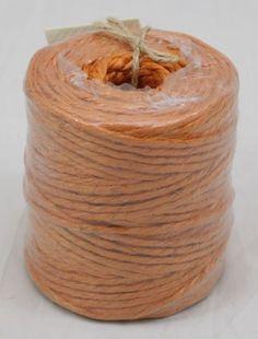 Orange Jute Twine 3-Ply 75 Yards Burlap Coffee Bags, Burlap Bags, Muslin Bags, Burlap Ribbon, Burlap Chair Sashes, Burlap Curtains, Burlap Pillows, Burlap Rolls, Sisal Twine