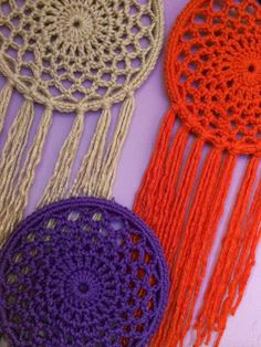 Large Handmade Crochet Dreamcatcher: I think I could make this
