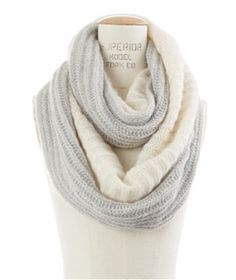 Counting Clouds Circle Scarf, Madewell A white and grey infinity scarf? Yes please.