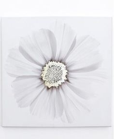 Metallic X-Ray flower - printed wall art