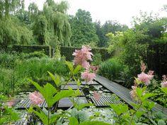 a Mien Ruys garden in Dedemsvaart, the Netherlands Water Features In The Garden, Garden Features, Big Garden, Water Garden, Beautiful Landscapes, Beautiful Gardens, Landscape Architecture Design, Landscape Architects, Formal Gardens