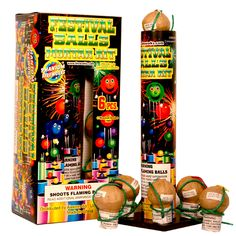 Phantom Fireworks® Phantom Small Festival Ball: A sensational fireworks kit. Comes complete with a mortar and six reloadable shells with beautiful assorted bursts.