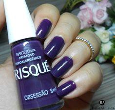 Purple nails blogged!! . . #blogbellealmeida #ovalnais #unhas #nailart #blogged #blogged #blogger #nailstips #viciadaemvidrinhos #viciadaemesmaltes
