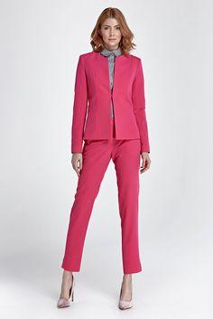 b6bb578702a Ensemble tailleur costume femme pantalon + veste rose fuschia NIFE SD28 +  Z22