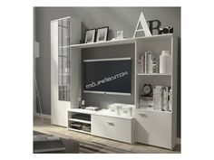 TV entertainment unit - Wall unit - Cabinet storage - Living room - White + Oak in Home, Furniture & DIY, Furniture, TV & Entertainment Stands Cheap Furniture, Home Decor Furniture, Furniture Making, Living Room Furniture, Furniture Sets, Furniture Stores, Furniture Websites, Furniture Removal, Inexpensive Furniture
