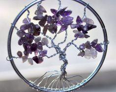 Suncatcher púrpura árbol de la vida