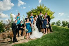 Brookside Gardens Event Center Wedding Bridal Party Dramatic