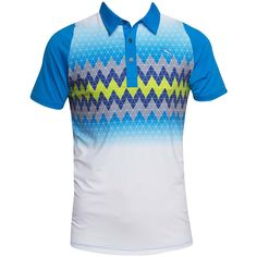 DS Graphic Stripe Polo AW14 - Blue Aster