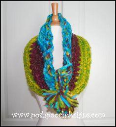 Fruit Striped Crochet Cowl Pattern | AllFreeCrochet.com