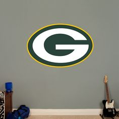 Green Bay Packers Logo REAL.BIG. Fathead – Peel & Stick Wall Graphic   Green Bay Packers Wall Decal   Sports Home Decor   Football Bedroom/Man Cave/Nursery