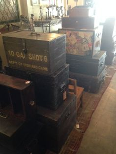 all manner of trunks and boxes for end tables, etc.
