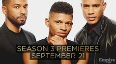 When Does Empire Start Again On Fox?  Empire Season 3 premieres on Wednesday September 21 2016 at 9 PM ET/PT  Season 3 Episodes  September 21 2016 - Light in Darkness  September 28 2016 - Sin That Amends  October 5 2016 - What Remains Is Bestial  Entertainment Weekly reports that Terrence Howard aka Lucious Lyon was recently sued by his former management company Authentic Talent and Literary Management. The actor can't get Thirsty Rawlings to get him out of this one. According to the…