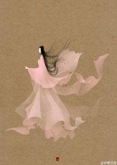 【绘师:呼葱觅蒜】 #无脸古装群像##太子妃升职记#