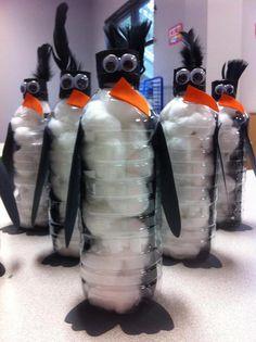 water bottle penguins!