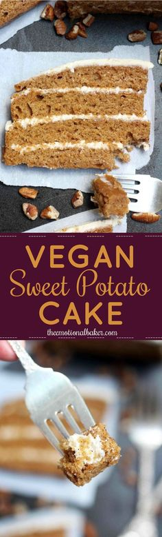 This Vegan Sweet Potato Cake is packed with flavor and perfect for any celebration. Added bonus - it's one of the easiest layer cakes you'll ever make!