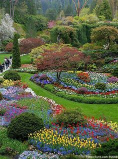 Butchart Gardens, Victoria, BC  Cananda  Photo by Tim Yuan on Flickr