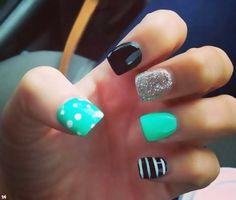Gel Nails are a girls best friend. We love these colours. Biosculpture Gel. Mirror Mirror Salon and Spa. Kelowna BC #gelnails #nails #nailart2014