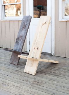 Weekend Project: Make a Wooden Chair from One Board (for $8!) | Man Made DIY | Crafts for Men | Keywords: diy, woodworking, wood, outdoor