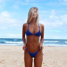 @blueisabell lookin like a vision in @poshpua KAINALU kini in #ultramarine  available on the site > THEBIKINIFOX.COM x #bikinifox #poshpua #crochetheaven