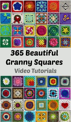 CrochetSewingKnittingRecipesContact Us HomeCrochet365 Most Beautiful Granny Squares 365 MOST BEAUTIFUL GRANNY SQUARES Crochet DSadminJuly 27, 20170 Hello Dear Crocheters and granny square lovers, we have great surprise for you and we hope you will love. Look at the pictures and you can see only little part of beautiful granny squares there. It's a most huge collection with free video tutorials. Thanks to author for the toughest work that she has made and for the designers for eac