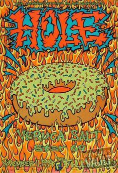 Hole Poster  Fillmore Auditorium (San Francisco, CA) Nov 11, 1994