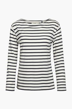 The famous Seasalt Sailor shirt. We've taken the classic striped Breton top, made it from the softest organic cotton and in colours inspired by Cornwall. Breton Top, Sailor Shirt, Textiles, Work Wardrobe, Capsule Wardrobe, Wearing Black, Long Sleeve Tops, Organic Cotton, Clothes For Women
