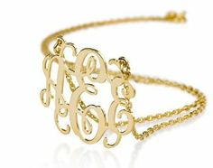 Amazon.com: Monogram Necklace 18k Gold Plated Personalized Initial Name Necklace (16 Inches): Jewelry