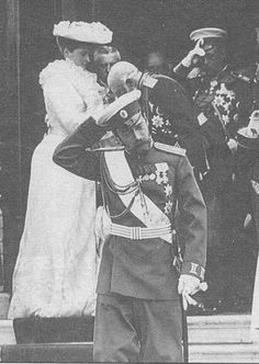 Nicholas and Alexandra at Peterhof