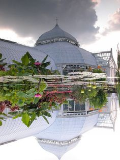 Phipps Conservatory and Botanical Gardens, Pittsburgh, PA ~ LEED certifications: 1) world's only Platinum-certified greenhouse and 2) Platinum-certified and net-zero energy Center for Sustainable Landscapes.