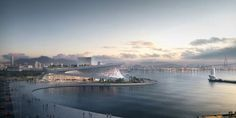 Busan Opera House - Concept Design/Exterior/Landscape: Heaven, earth and water are very important elements in Korean philosophy. Snohetta physically responds to this by creating two contrasting curves where one relates to the sky and the other curve relates to the sea. Sitting on a reclaimed l...