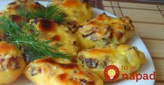 Baked potatoes with mushrooms Cheesy Recipes, Pork Recipes, Vegetarian Recipes, Cooking Recipes, Hungarian Recipes, Russian Recipes, European Cuisine, How To Cook Potatoes, Baked Potatoes