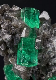 Beryl var Emerald Coscuez Mine, Colombia 53 mm Photographed for The Arkenstone ex Herb Obodda Collection : Beryls : Mineral Photographer - Professional Gemstone and Specimen Photography