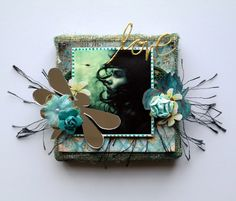 """Dragonfly Love"" Canvas by Dana Tatar for Gecko Galz"