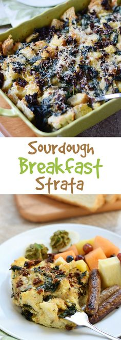This Sourdough Breakfast Strata is a delicious way to start your day, and it's perfect for dinner as well cookingwithcurls.com #Switch2Sourdough #ad