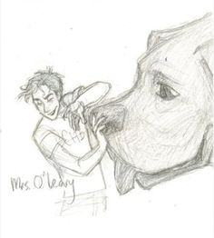 Day 9- favorite monster?- We all LOVE Mrs. O'Leary <3 she's not really that much of a monster to us anymore, though. Just to her enemies ;)