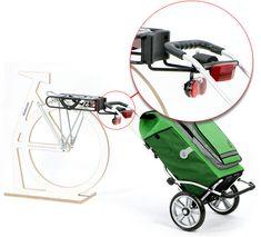 Den Einkaufstrolley mit Hilfe des Erweiterungssets am Fahrrad befestigen