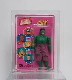 The Incredible Hulk 1979 AFA 80 Mego Marvel Comics Action Figure Unpunched RARE | eBay
