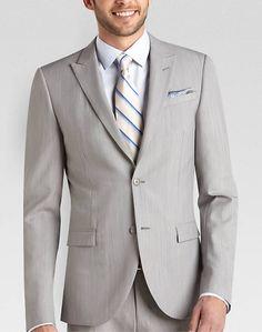 Egara Light Gray Slim Fit Suit - Slim Fit | Men's Wearhouse $350