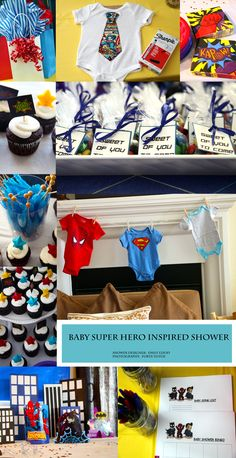 """Super Hero"" Inspired Baby Shower.    Designer:  Emily Lloyd    Photography:  Forte Fotos"