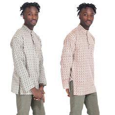 Mens Banded Collar Eco Om Cotton Kurta Yoga Shirt-20224 #Handmade #BasicJacket