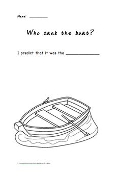 Studying sink and float? Who Sank the Boat? by Pamela