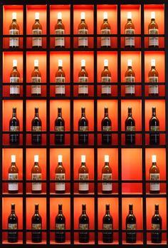 Showcase your wine, colored background looks great with most wine bottles, lighting is key.