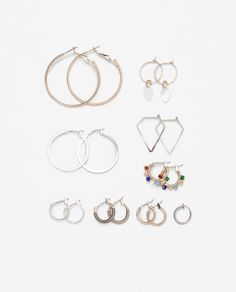 ZARA - WOMAN - MULTI HOOPS EARRINGS PACK