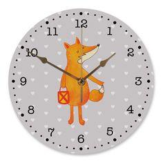 30 cm Wanduhr Fuchs Laterne aus MDF  Weiß - Das Original von Mr. & Mrs. Panda.  Diese wunderschöne Uhr von  Mr. & Mrs. Panda wird liebeveoll in unserem Hause bedruckt und an sie versendet. Sie ist das perfekte Geschenk für kleine und große Kinder, Weltenbummler und Naturliebhaber. Sie hat eine Grösse von 30 cm und ein absolut LAUTLOSES Uhrwerk.    Über unser Motiv Fuchs Laterne  Die Fox Edition ist eine besonders liebevolle Kollektion von Mr. & Mrs. Panda. Jedes Motiv ist wie immer bei Mr…