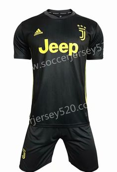 2018-19 Juventus 2nd Away Dark Gray Soccer Uniform 2b0127ff4