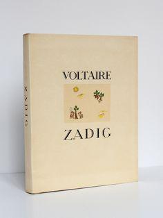 """""""Zadig"""", par VOLTAIRE, publié en 1947 à Chamonix par l'éditeur Chez Jean Landru. Avec de très belles illustrations de Roger MAUGE."""