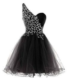 junior plus Black and silver sequin one shoulder tutu plus size trendy formal prom homecoming dress 2015